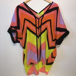 Gibson Latimer Colorful Sheer Tunic/Cover